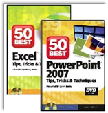 DVDs of The 50 Best Tips for Excel and PowerPoint