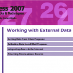 Access Working with External Data