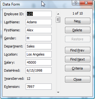 Learn How to Use Excel's Data Form to Filter Records with Criteria