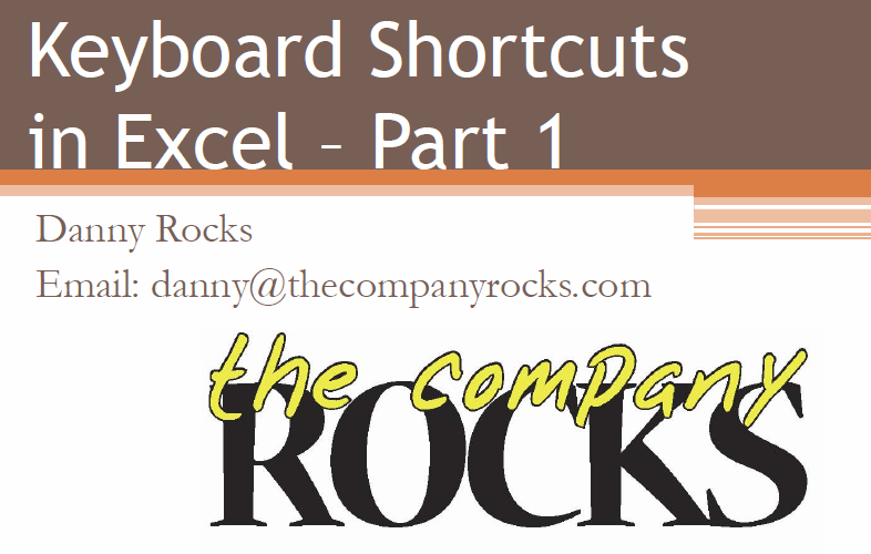 Keyboard Shortcut Charts and Videos for Excel and Word