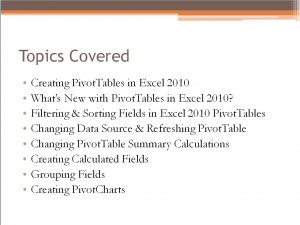 Pivot Table Download Summary