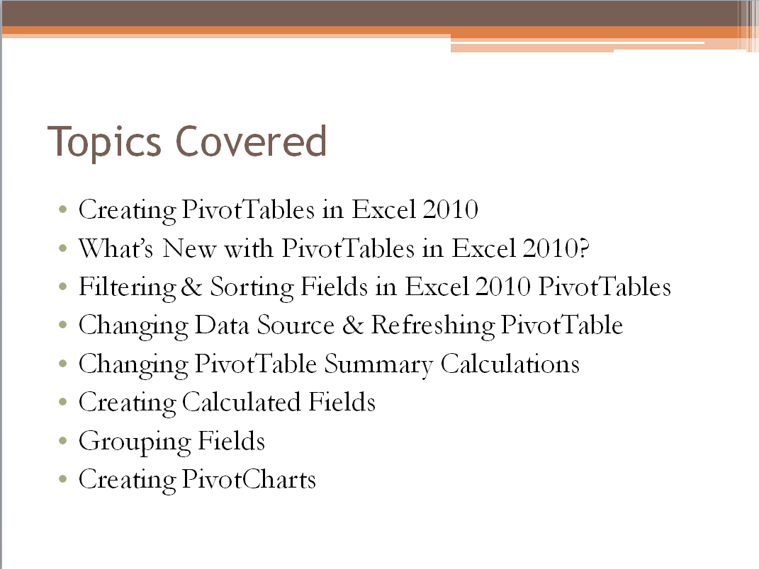 Learn Excel Pivot Tables Quickly