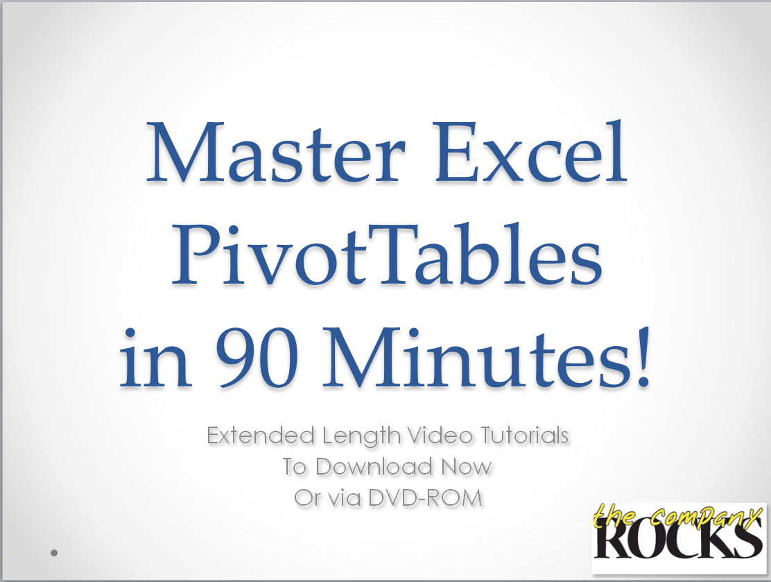 Master Excel Pivot Tables in 90 Minutes