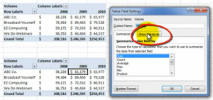 Show Values As for Pivot Table
