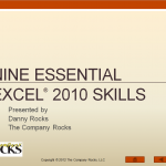 9 Essential Skills for Excel 2010