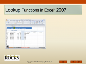 Video Lesson - Lookup Functions in Excel 2007