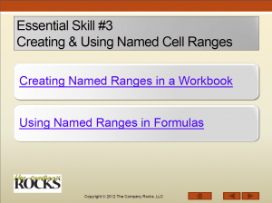 Essential Skill #3 - Using Named Cell Ranges